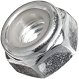 Steel Lock Nut, Zinc Plated Finish, Inch