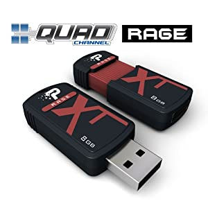 PDP PATRIOT Extreme Performance Xporter XT Rage PEF8GRUSB - USB-Flash-Laufwerk - 8 GB
