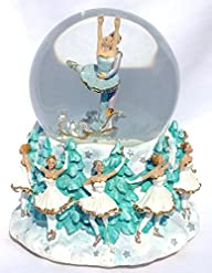Nutcracker Themed Musical Snow Globe Glitterdome 100mm Dance of the Sugar Plum Fairies