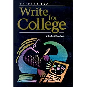 homeschool writing book write for college Sebranek Meyer Kemper