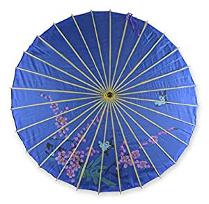 "33"" Hand-painted Parasol Umbrella Fabric Chinese Japanese"