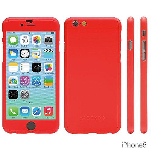 NanoSkin ナノスキン フルカバーケース iPhone6 (4.7インチ)カラバリ全7色 (オレンジ)