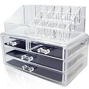 Nile Acrylic Jewelry and Cosmetic Storage Display Boxes Two Pieces Set