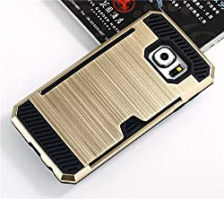 Samsung Galaxy S6 Edge Plus Premium Back Case * Bracevor Shock proof, Anti slip, Shimmer Protective grip back Cover - Golden