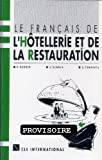 echange, troc Collectif - Le français de l'hôtellerie et de la restauration (cassette)