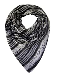Elabore Women's Abstract Stole - Black & White - B00NHLK5JU