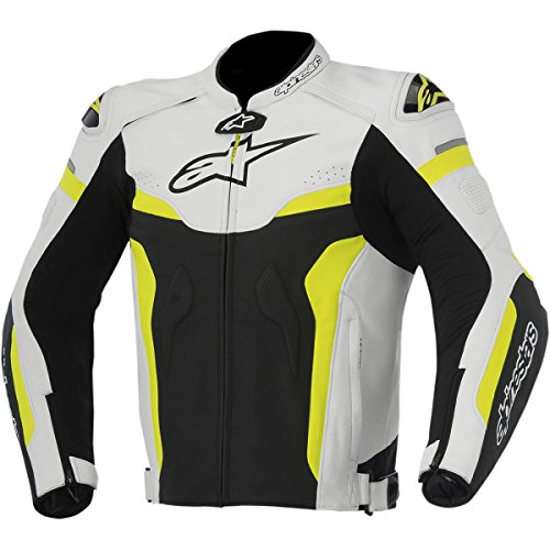 Alpinestars Celer Men's Street Motorcycle Jackets - Black/White/Yellow / 60