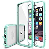 """iPhone 6 Case - Ringke FUSION iPhone 6 Case 4.7 """" **NEW** [Dust Cap&Drop Protection][MINT] Premium Crystal Clear Back Shock Absorption Bumper Hybrid Hard Case for Apple iPhone 6 4.7 Inch - Eco/DIY Package"""