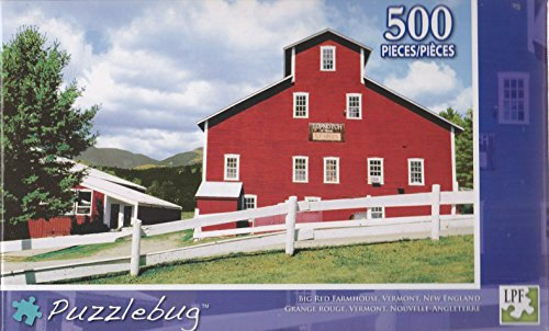 Puzzlebug 500 Piece Puzzle ~ Big Red Farmhouse, Vermont, New England - 1