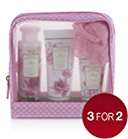 Floral Collection Rose Toiletry Gift Bag