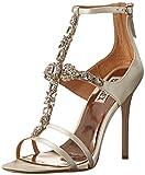 Badgley Mischka Womens Giovana Dress Sandal, Ivory Satin, 7 M US
