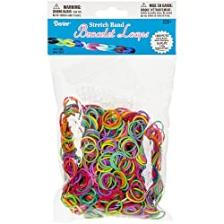 Darice 1036-Piece Stretch Band Bracelet Loops and S-Clips Set, Mix