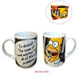 Homer The Simpsons Cheers Tumbler Ceramic Mug