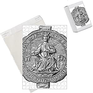 jigsaw puzzles of seal of robert the bruce  king of scotland  14th century