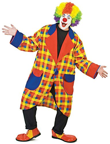 Funny Fashions Mens Funny Circus Happy Clubbers Clown Party Fancy Costume