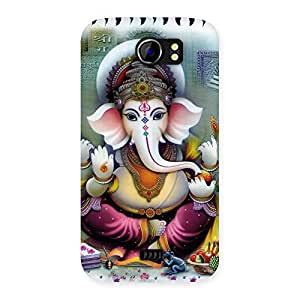 Gorgeous Ganesha Blessings Back Case Cover for Micromax Canvas 2 A110