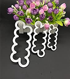 Swity Home 3 [Pack] Rose Flower Cake Mold-Cake Decorating Gumpaste Flowers, The Easiest Rose Ever, Large, Medium, Small, Set of 3
