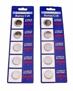 10 CR1632 Lithium 3V Watch Batteries
