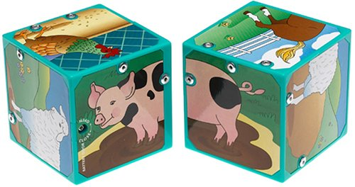 Small World Toys Neurosmith- Magic Sound Blocks - Farm Animals
