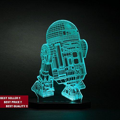 3d R2-D2 Model Star Wars Led Light lamp Kids Room Bedroom Gift