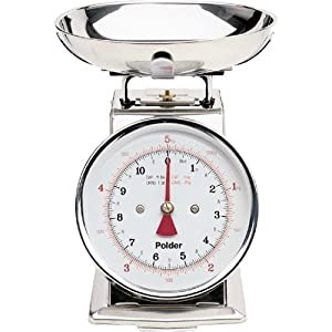 Polder 11-Pound Stainless-Steel Kitchen Scale