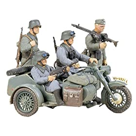 German BMW R75 with Side Car Military Model Kit