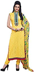 K.K BROTHERS Women's Cotton Dress Material (Yellow)