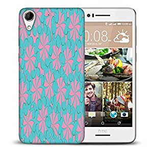 Snoogg Blue And Pink Pattern Printed Protective Phone Back Case Cover For HTC Desire 728