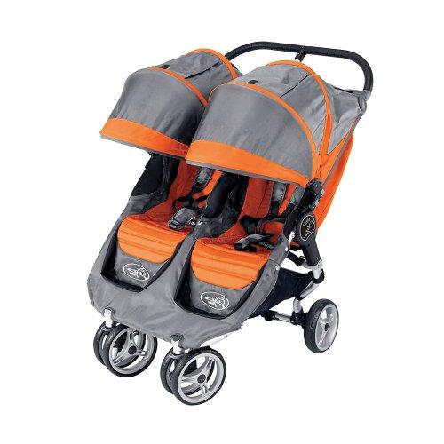 Baby Jogger 2010 City Mini Double Stroller Orange Grey
