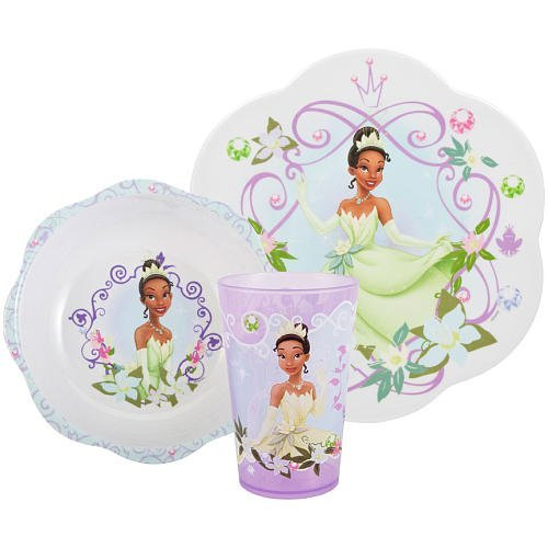 Disney Princess & the Frog Dinner Mealtime Set - 3 pieces - 1