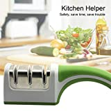 Multifunction Knife Sharpener 3 Stage Sharpening System Magical Fast Tool for All-Sized Household Slicing Fruit Knives (Green (3 in 1))