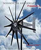 2000 Watt 11 Blade Missouri GeneralTM Freedom II Wind Turbine (Black, 12/24 volts) (Black, 24/48 Volts)