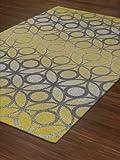 "Yellow Rug Modern/Trendy GRAY Chainlink 7'10""x10'7"" (Large 8x11) Carpet"