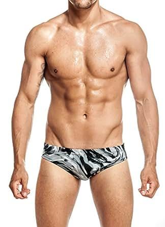 Mens New Hot Print Body Bikini Swimsuit by Gary Majdell Sport Fan Grey Small