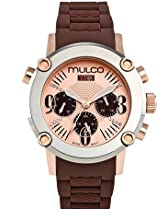 Mulco MW2-28049-033 Stainless Steel Chronograph MWATCH brown band Watch
