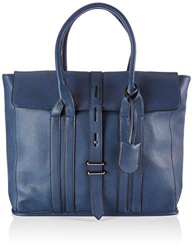 Friis & Company - Grain Molly Shopper, Borsa A Tracolla da donna, blu (navy), 12x35x40 cm (B x H x T)