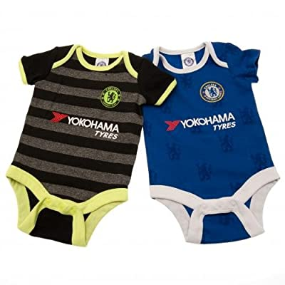 Chelsea FC Authentic EPL Baby Onesies 2 Pack new for 2017 (3-6 MONTHS)