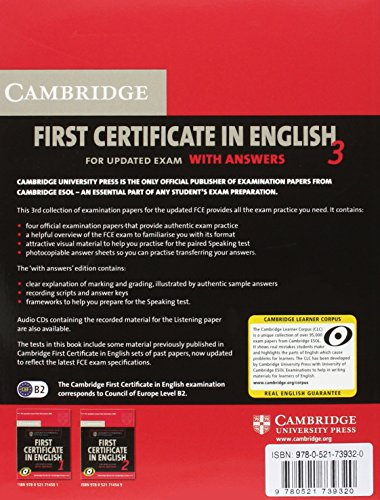 Cambridge first certificate in english. For updated exams. Con CD Audio. il Liceo scientifico: Cambridge First Certificate in English 3 for Updated ... ESOL Examinations (FCE Practice Tests)