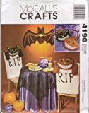 512Pjga4fSL. SL160  McCalls Sewing Pattern 4190 Halloween Crafts, Pumpkin, Bat, Cat, Decor & Treat Bags