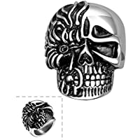 Terminator Fiery 100% Tough Stainless steel Bikers Ring for Boys and Men by Yellow Chimes