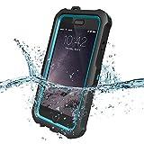 ZVE Iphone6/6S アイフォン6/6S 4.7インチ ケース カバー 防水 耐震 防塵 耐衝撃 本体液晶保護フィルム付き (ブルー)