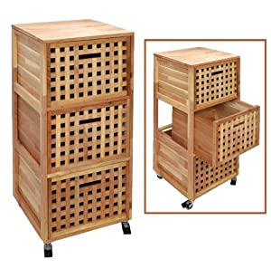 Roll chest of drawers on castors shelf bathroom shelf ...