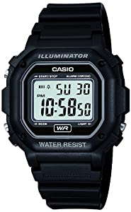 Casio Men's Classic Digital Resin Watch Black F108WH-1