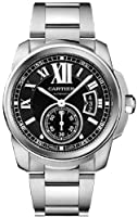 Cartier Men's W7100016 Calibre De Cartier Black Dial Watch from Cartier