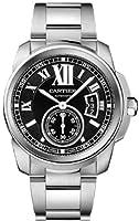 Cartier Men's W7100016 Calibre De Cartier Black Dial Watch from Cartier