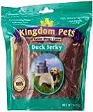 Kingdom Pets Premium Dog Treats, Duck Jerky, 16-Ounce Bag