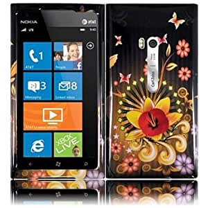 HR Wireless Nokia Lumia 900 Design Protective Cover - Retail Packaging - Shine Flower
