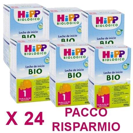 latte Hipp 1 da 600 grammi X 24 Confezioni - Pacco Convenienza