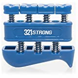 Finger Strengthener and Hand Exerciser for Guitar , Piano , or Therapy - Blue with BONUS 4K Ultra HD eBook