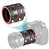 Neewer® Auto Focus Macro Extension Tube Set for Canon EOS DSLR SLR Lens, Extreme Close-Ups (Red), fits Canon EOS 1d, 1ds, Mark II, III, IV, 5D,Mark II, 7D, 10D, 20D, 30D, 40D, 50D, Digital Rebel xt, xti, xs, xsi, t1i, t2i, t4i, t5i 300D, 350D, 401D,0D, 500D, 550D, 650D, 700D, 1000D (Metal Bayonet))